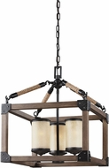 Seagull 3113303-846 Dunning Stardust / Cerused Oak Mini Lighting Chandelier