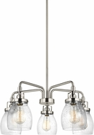 Seagull 3114505-962 Belton Contemporary Brushed Nickel Chandelier Light