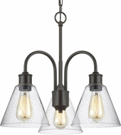 Seagull 3120303-782 Elsa Contemporary Heirloom Bronze Mini Lighting Chandelier
