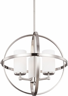 Seagull 3124603-962 Alturas Modern Brushed Nickel Chandelier Light