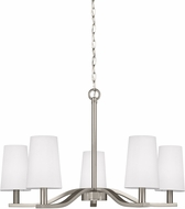 Seagull 3128005-962 Nance Contemporary Brushed Nickel LED Ceiling Chandelier