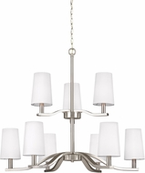 Seagull 3128009-962 Nance Contemporary Brushed Nickel LED Chandelier Light