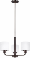 Seagull 3128803EN3-710 Canfield Contemporary Burnt Sienna LED Mini Chandelier Light