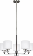 Seagull 3128805EN3-962 Canfield Contemporary Brushed Nickel LED Chandelier Lamp