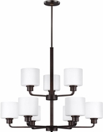 Seagull 3128809EN3-710 Canfield Contemporary Burnt Sienna LED Chandelier Light