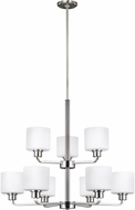 Seagull 3128809EN3-962 Canfield Contemporary Brushed Nickel LED Ceiling Chandelier