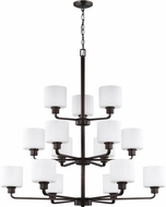 Seagull 3128815EN3-710 Canfield Contemporary Burnt Sienna LED Hanging Chandelier
