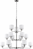 Seagull 3128815EN3-962 Canfield Contemporary Brushed Nickel LED Chandelier Light