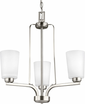 Seagull 3128903-962 Franport Modern Brushed Nickel Mini Ceiling Chandelier