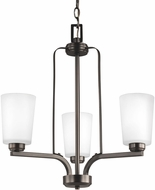 Seagull 3128903EN3-710 Franport Contemporary Burnt Sienna LED Mini Hanging Chandelier