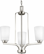 Seagull 3128903EN3-962 Franport Modern Brushed Nickel LED Mini Chandelier Light