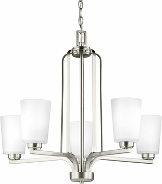 Seagull 3128905EN3-962 Franport Modern Brushed Nickel LED Chandelier Light