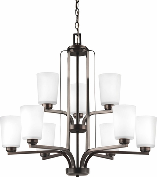 Seagull 3128909-710 Franport Contemporary Burnt Sienna Ceiling Chandelier