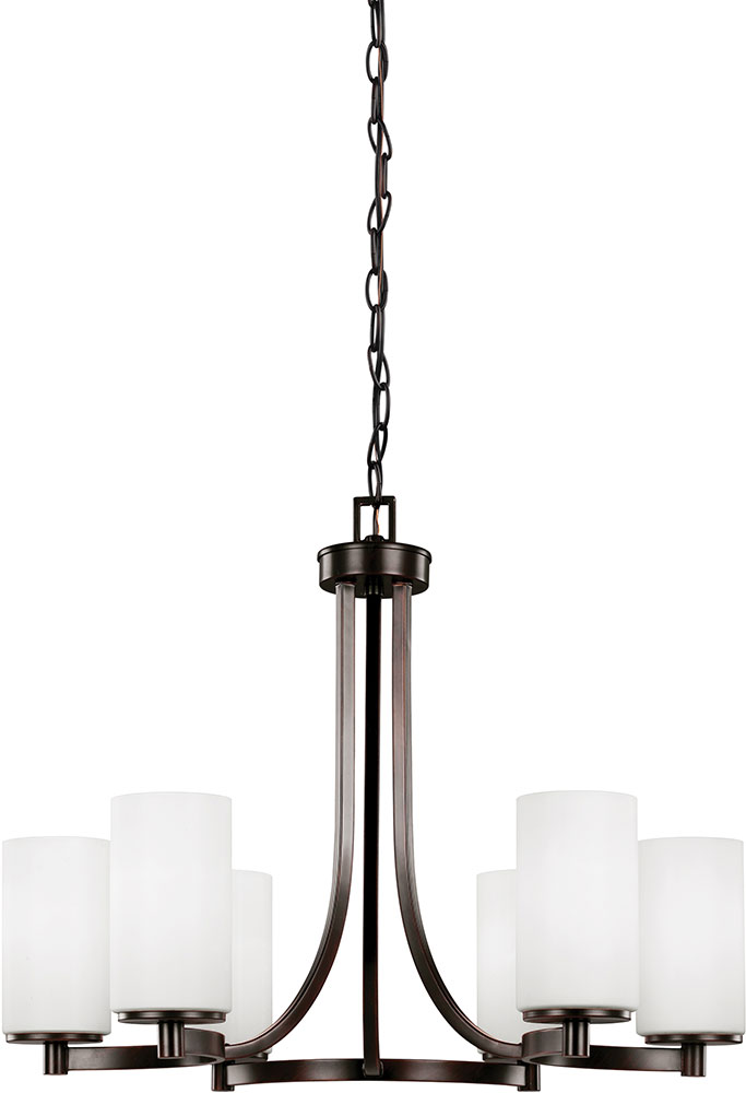 Seagull 3139106 710 Hettinger Modern Burnt Sienna Led Lighting Chandelier