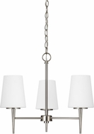 Seagull 3140403-962 Driscoll Contemporary Brushed Nickel Mini Chandelier Lighting