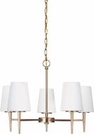 Seagull 3140405EN-848 Driscoll Contemporary Satin Bronze LED Chandelier Light