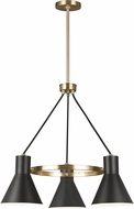 Seagull 3141303EN3-848 Towner Contemporary Satin Brass LED Mini Hanging Chandelier