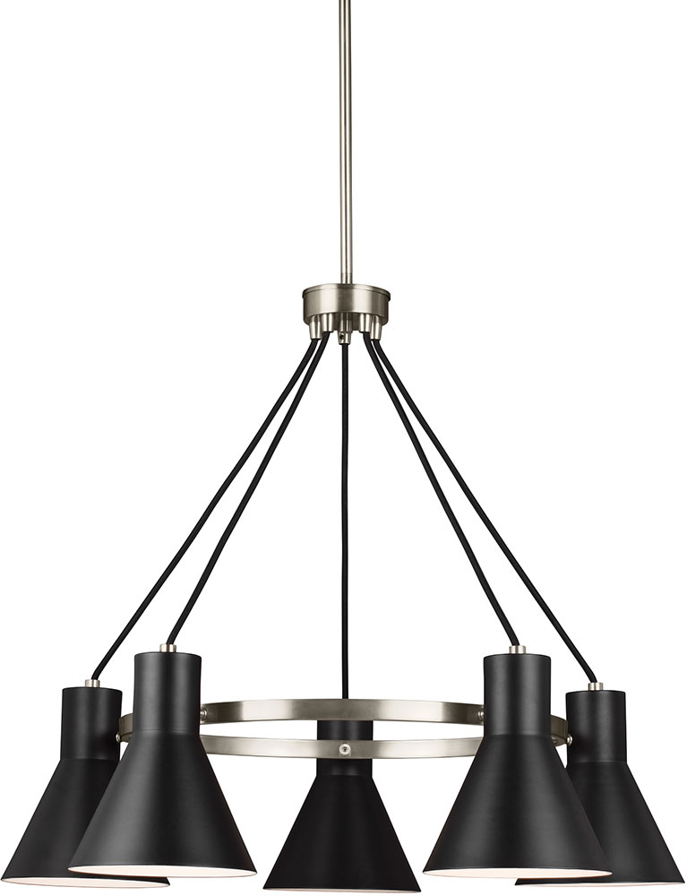 Seagull 3141305en 962 Towner Modern Brushed Nickel Led Lighting Chandelier