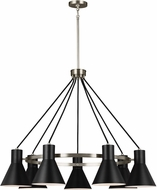 Seagull 3141307EN-962 Towner Contemporary Brushed Nickel LED Chandelier Lamp
