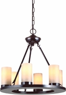 Seagull 31586-710 Ellington Modern Burnt Sienna Chandelier Lighting