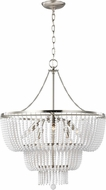 Seagull 3180706EN-962 Jackie Contemporary Brushed Nickel LED Pendant Light Fixture