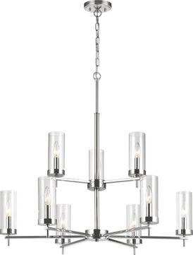 Seagull 3190309-05 Zire Contemporary Chrome Hanging Chandelier
