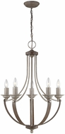 Seagull 3280405-872 Corbeille Traditional Washed Pine Mini Chandelier Lamp