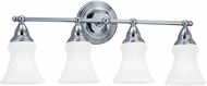 Seagull 40126EN-05 Sagemore Chrome LED 4-Light Bath Lighting