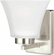 Seagull 4111601EN-962 Bayfield Contemporary Brushed Nickel LED Wall Light Fixture