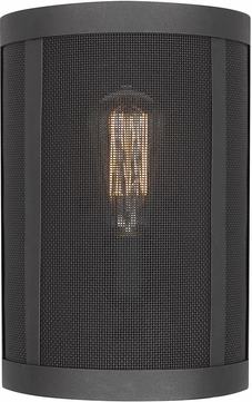 Seagull 4128501-12 Gereon Contemporary Black Wall Light Fixture
