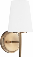 Seagull 4140401-848 Driscoll Contemporary Satin Brass Wall Lamp