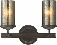 Seagull 4410402EN-715 Sfera Contemporary Autumn Bronze LED 2-Light Bathroom Light