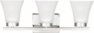 Seagull 4411603EN-05 Bayfield Contemporary Chrome LED 3-Light Bathroom Light Fixture