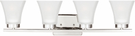Seagull 4411604EN-05 Bayfield Modern Chrome LED 4-Light Bathroom Sconce