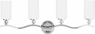 Seagull 4413404EN-05 Englehorn Chrome LED 4-Light Bathroom Light Sconce