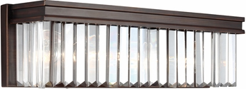 Seagull 4414003EN-710 Carondelet Burnt Sienna LED 3-Light Bathroom Lighting