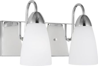 Seagull 4420202-05 Seville Contemporary Chrome 2-Light Bathroom Lighting