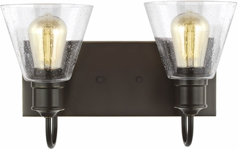 Seagull 4420302-782 Elsa Modern Heirloom Bronze 2-Light Lighting For Bathroom