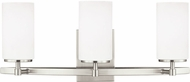 Seagull 4424603EN-962 Alturas Modern Brushed Nickel LED 3-Light Bathroom Sconce