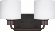 Seagull 4428802EN3-710 Canfield Contemporary Burnt Sienna LED 2-Light Bathroom Vanity Light Fixture