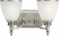 Seagull 44350EN-965 Laurel Leaf Antique Brushed Nickel LED 2-Light Bathroom Sconce Lighting