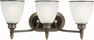 Seagull 44351EN-708 Laurel Leaf Estate Bronze LED 3-Light Bath Lighting Sconce