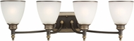 Seagull 44352EN-708 Laurel Leaf Estate Bronze LED 4-Light Bathroom Lighting