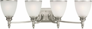 Seagull 44352EN-965 Laurel Leaf Antique Brushed Nickel LED 4-Light Lighting For Bathroom