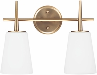 Seagull 4440402EN-848 Driscoll Contemporary Satin Bronze LED 2-Light Bathroom Lighting Fixture