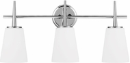 Seagull 4440403-05 Driscoll Contemporary Chrome 3-Light Vanity Light