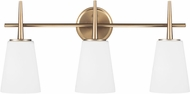 Seagull 4440403EN-848 Driscoll Modern Polished Nickel LED 3-Light Vanity Lighting