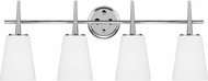Seagull 4440404-05 Driscoll Contemporary Chrome 4-Light Bathroom Sconce