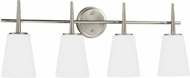 Seagull 4440404-962 Driscoll Modern Brushed Nickel 4-Light Vanity Light Fixture