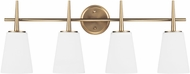 Seagull 4440404EN-848 Driscoll Contemporary Satin Bronze LED 4-Light Vanity Light